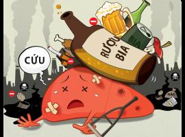 Tác hại khôn lường của rượu với lá gan