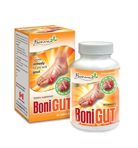 BoniGut hỗ trợ điều trị bệnh gout, tăng đào thải acid uric