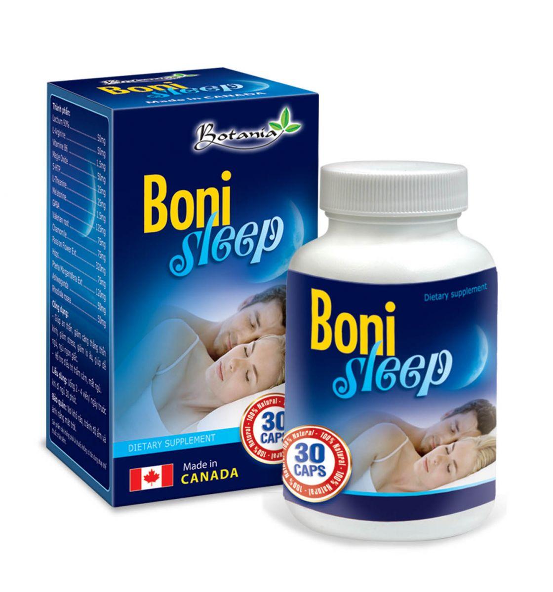 BoniSleep: giúp an thần, giảm căng thẳng thần kinh, giảm stress